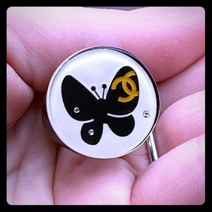Chanel butterfly resin ring